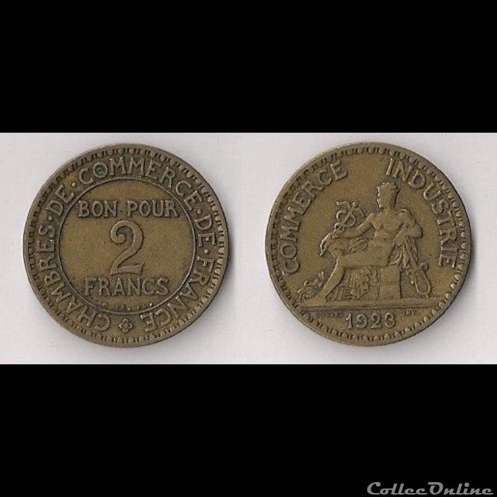 2 francs chambres de commerce 1923 monnaies france for Chambre de commerce de france bon pour 2 francs 1923