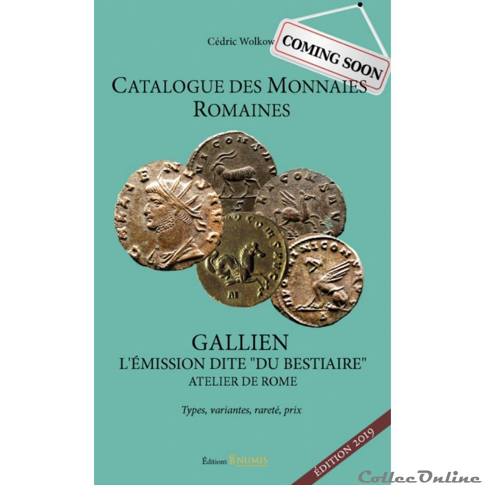 antique catalogue des monnaies romaines gallien l emission dite du bestiaire edition 2019