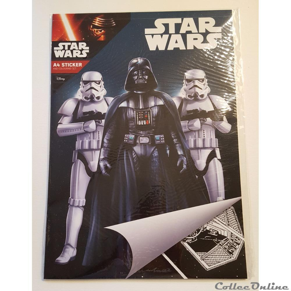 2015 Star Wars A4 Sticker And Colouring Set Books Comics