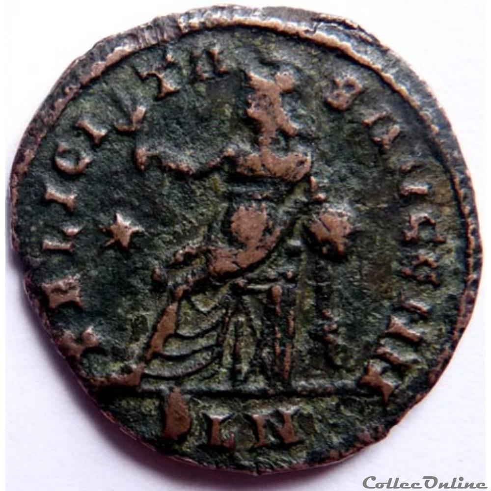 monnaie antique jc ap romaine constantin 1er 312 313 londres felicitas avgg nn