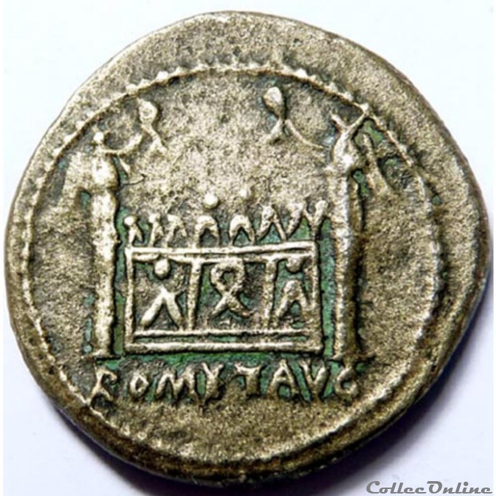 monnaie antique av jc ap romaine tibere 8 10 semis autel de lyon