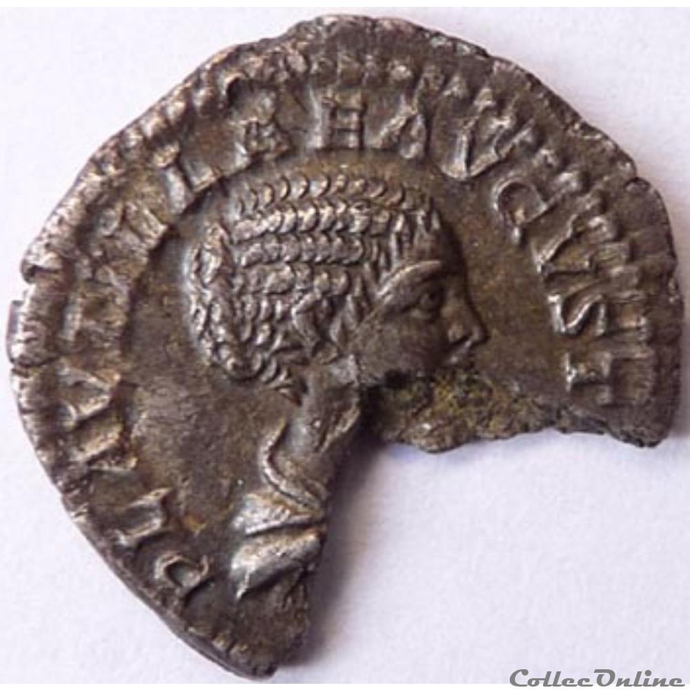 monnaie antique romaine plautille 202 trois quarts de denier rome ric iv 362