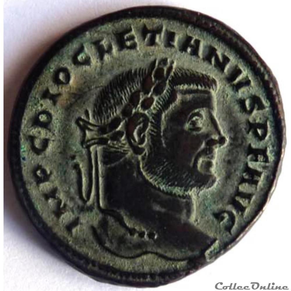 monnaie antique av jc ap romaine diocletien 296 siscia genio popvli romani