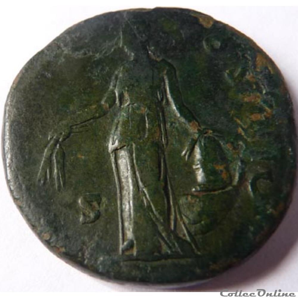 monnaie antique romaine antonin le pieux 151 152 sesterce rome ric iii 962