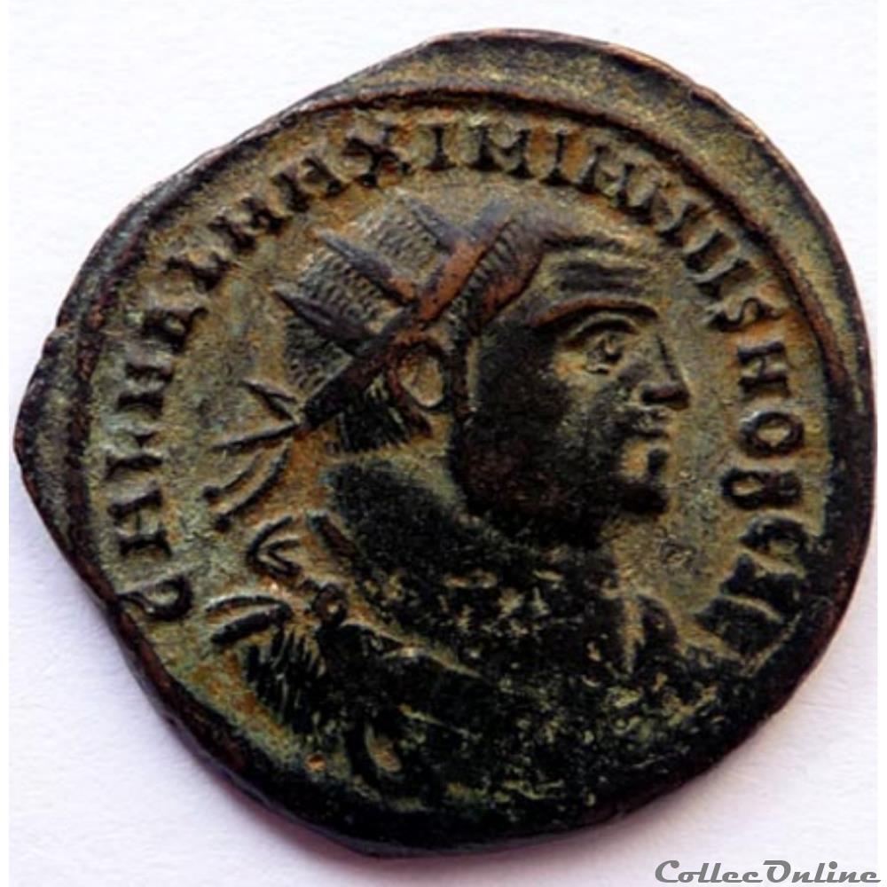 monnaie antique av jc ap romaine galere 296 297 alexandrie concordia militvm
