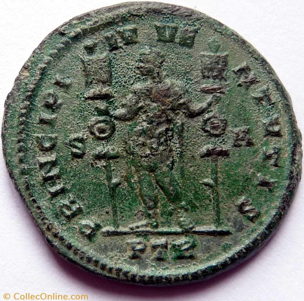 monnaie antique av jc ap romaine imperiale constantin 1er 307 treves principi ivventutis