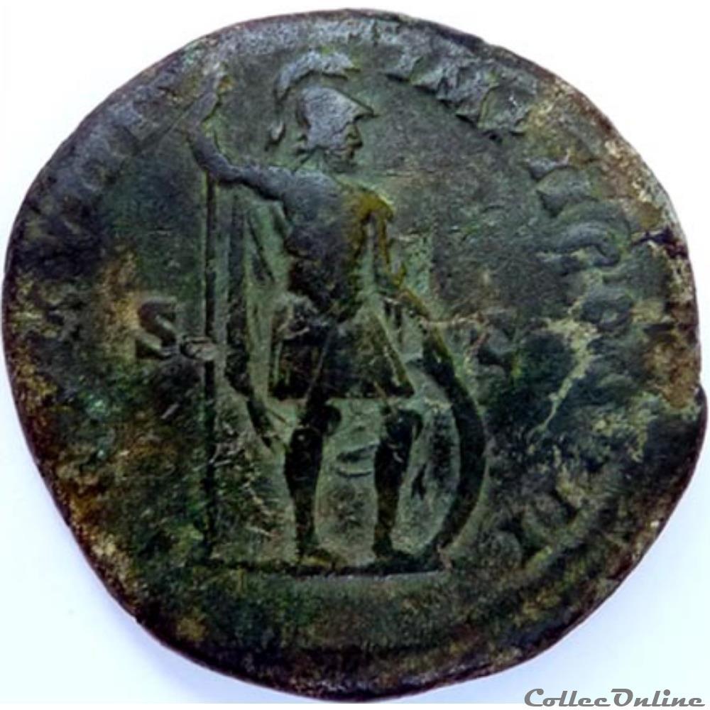 monnaie antique av jc ap romaine marc aurele 165 sesterce rome ric 898