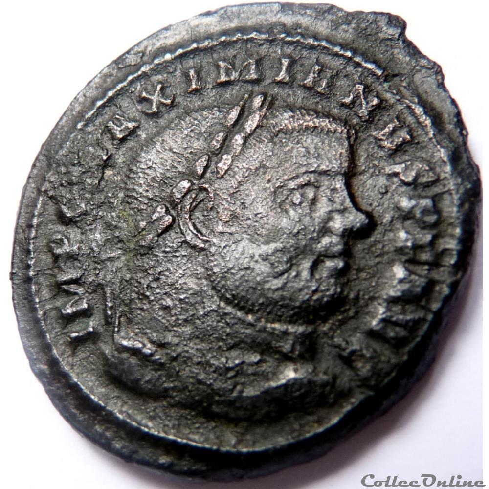 monnaie antique jc ap romaine maximien hercule 300 303 ticinum sacra monet avgg et caess nostr