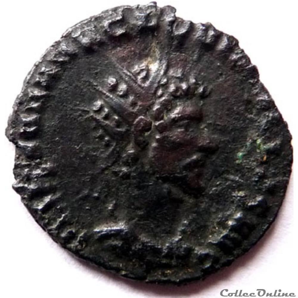 monnaie antique jc ap romaine quintille 270 rome laetitia avg