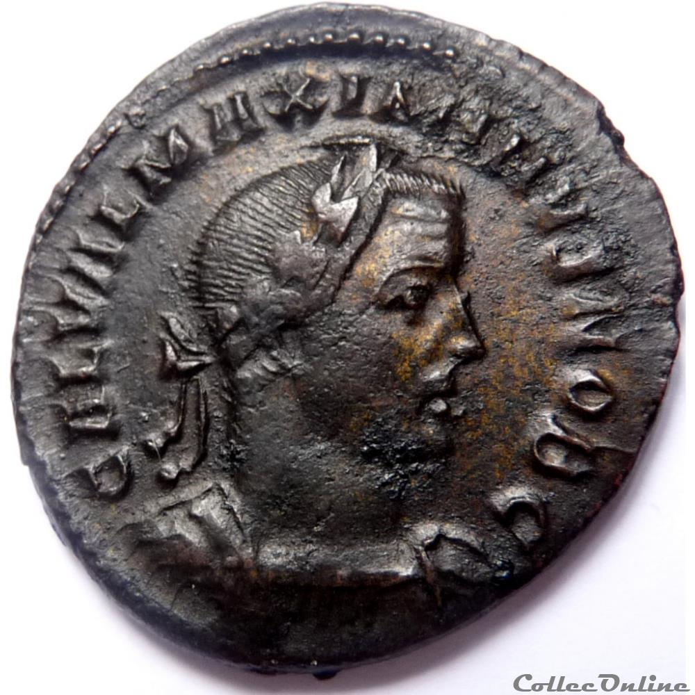 monnaie antique av jc ap romaine maximin ii 307 treves genio pop rom