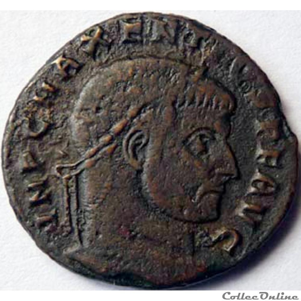 monnaie antique jc ap romaine maxence 309 312 ostie fides militvm avg n