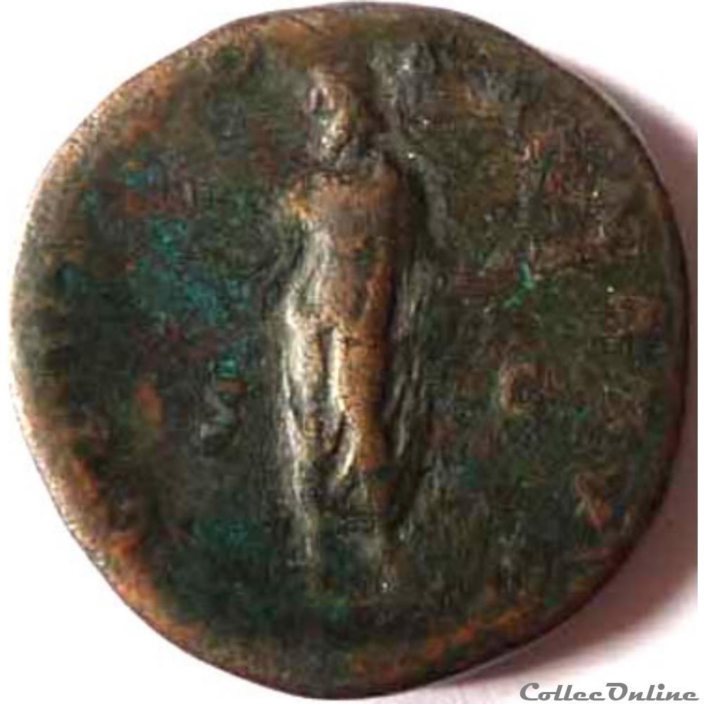 monnaie antique romaine antonin le pieux 142 sesterce rome ric iii 605