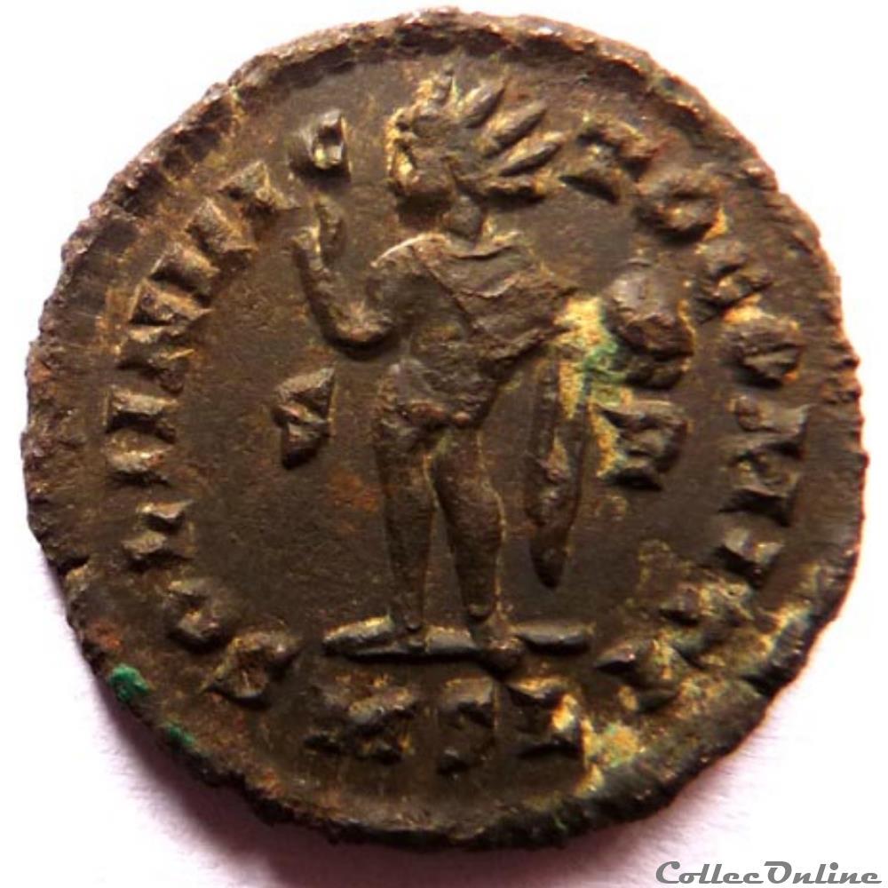 monnaie antique av jc ap romaine constantin 1er 316 londres soli invicto comiti