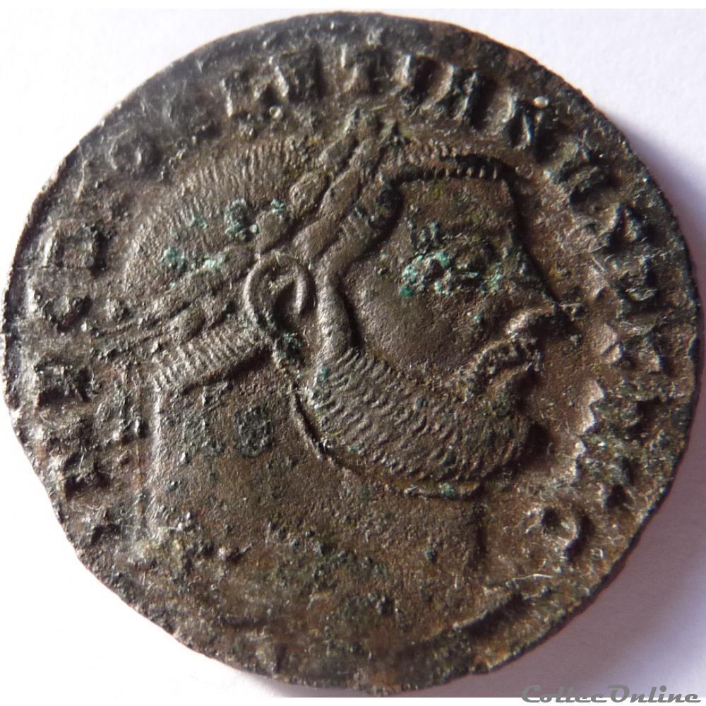 monnaie antique jc ap romaine diocletien 300 303 ticinum sacra monet avgg et caess nostr