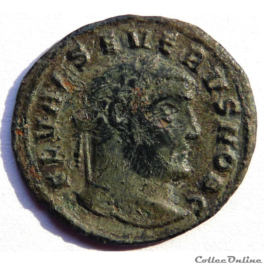 monnaie antique av jc ap romaine severe ii 305 306 siscia genio popvli romani