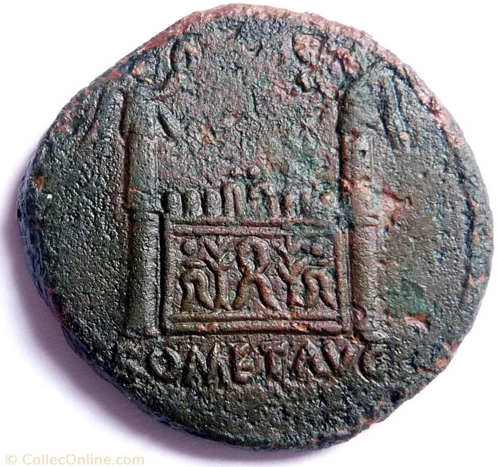monnaie antique av jc ap romaine tibere 14 37 as autel de lyon