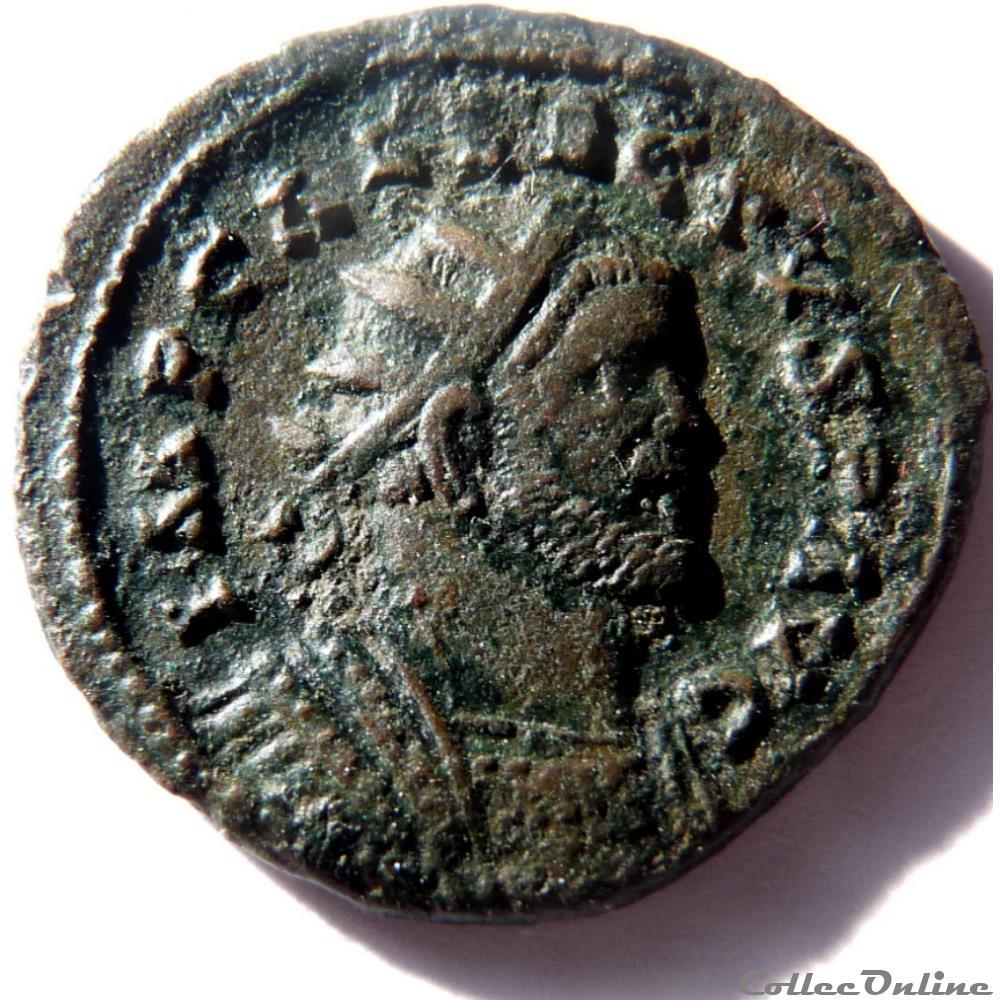 monnaie antique jc ap romaine allectus 293 296 camulodunum laetitia avg