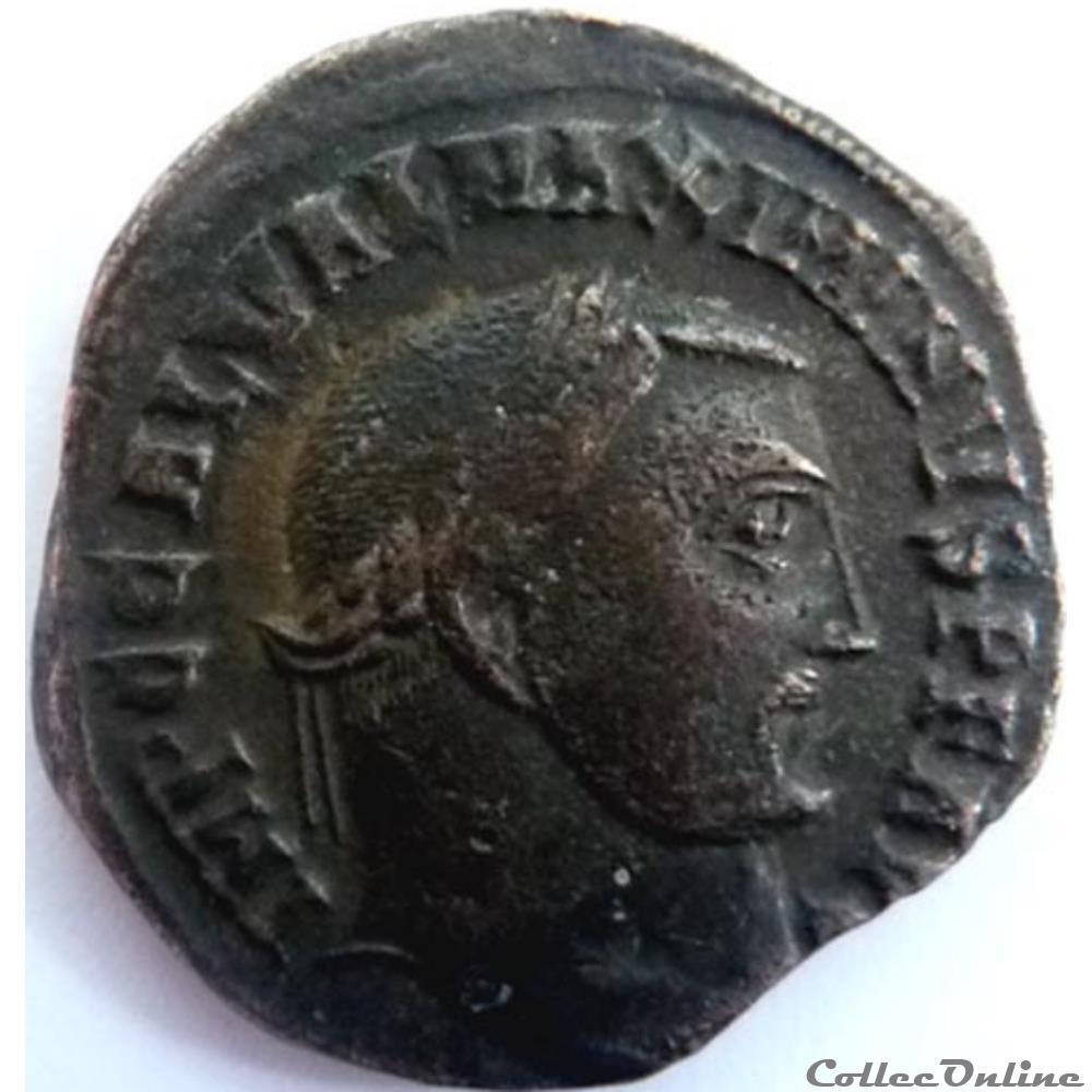 monnaie antique jc ap romaine maximin daia 313 alexandrie genio avgusti