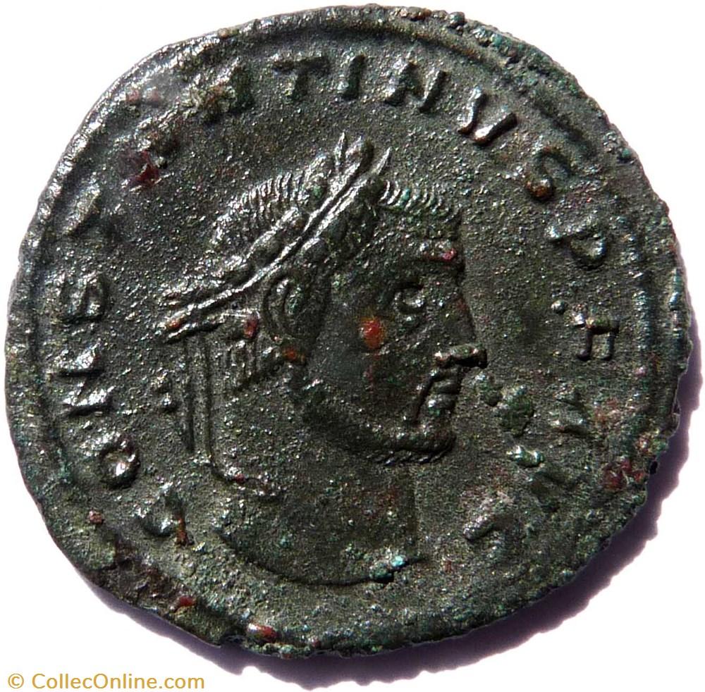 monnaie antique av jc ap romaine imperiale constantin 1er 312 thessalonique iovi conservatori