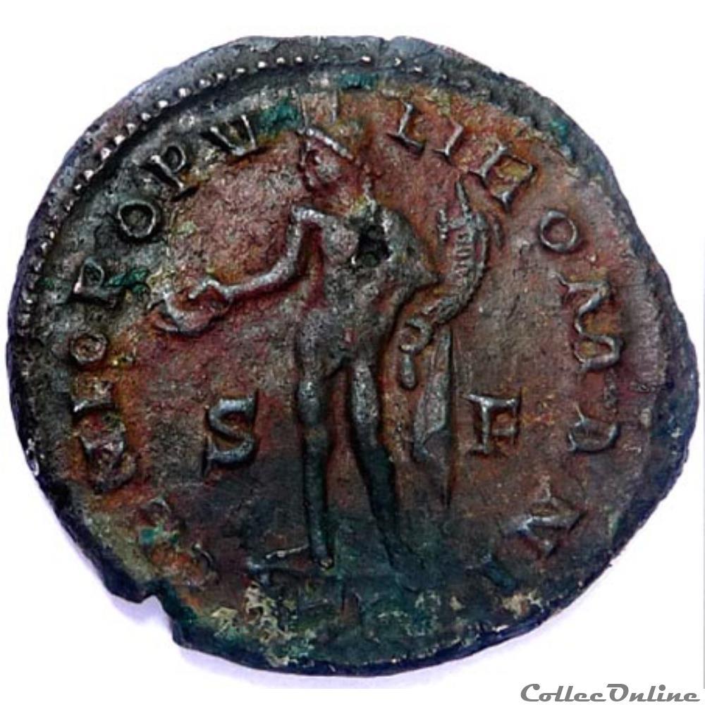 monnaie antique av jc ap romaine galere 302 303 treves genio popvli romani