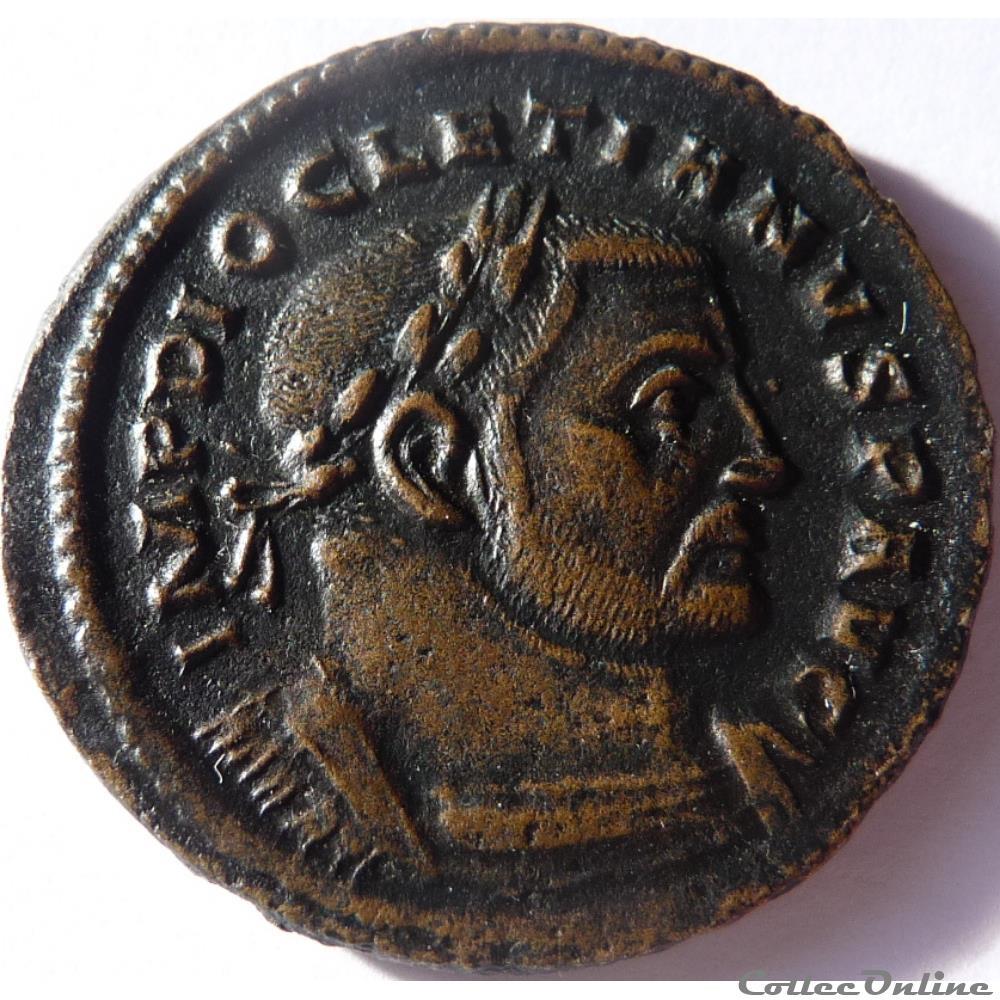 monnaie antique av jc ap romaine diocletien 303 305 treves genio popvli romani