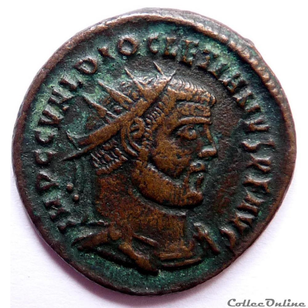 monnaie antique av jc ap romaine diocletien 295 299 cyzique concordia militvm