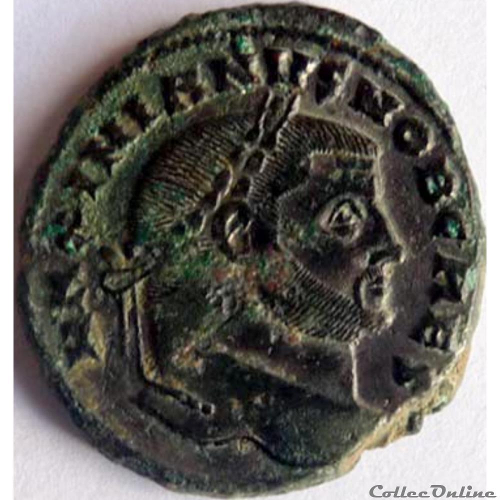 monnaie antique jc ap romaine galere 299 303 carthage salvis avgg et caess fel kart