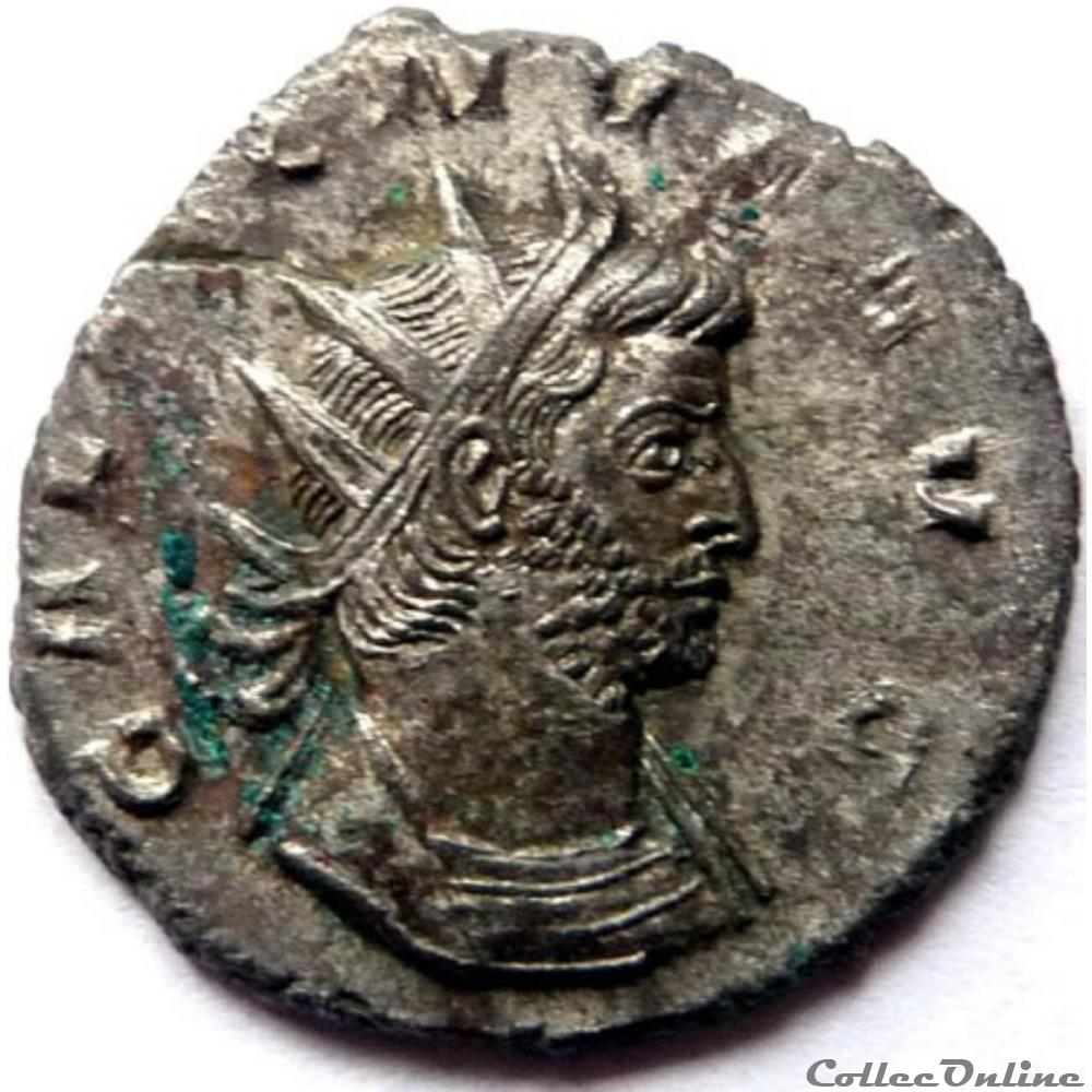 monnaie antique jc ap romaine gallien 261 262 rome virtvs avg