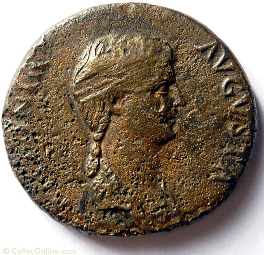 monnaie antique av jc ap romaine antonia minor 41 50 dupondius claude voile