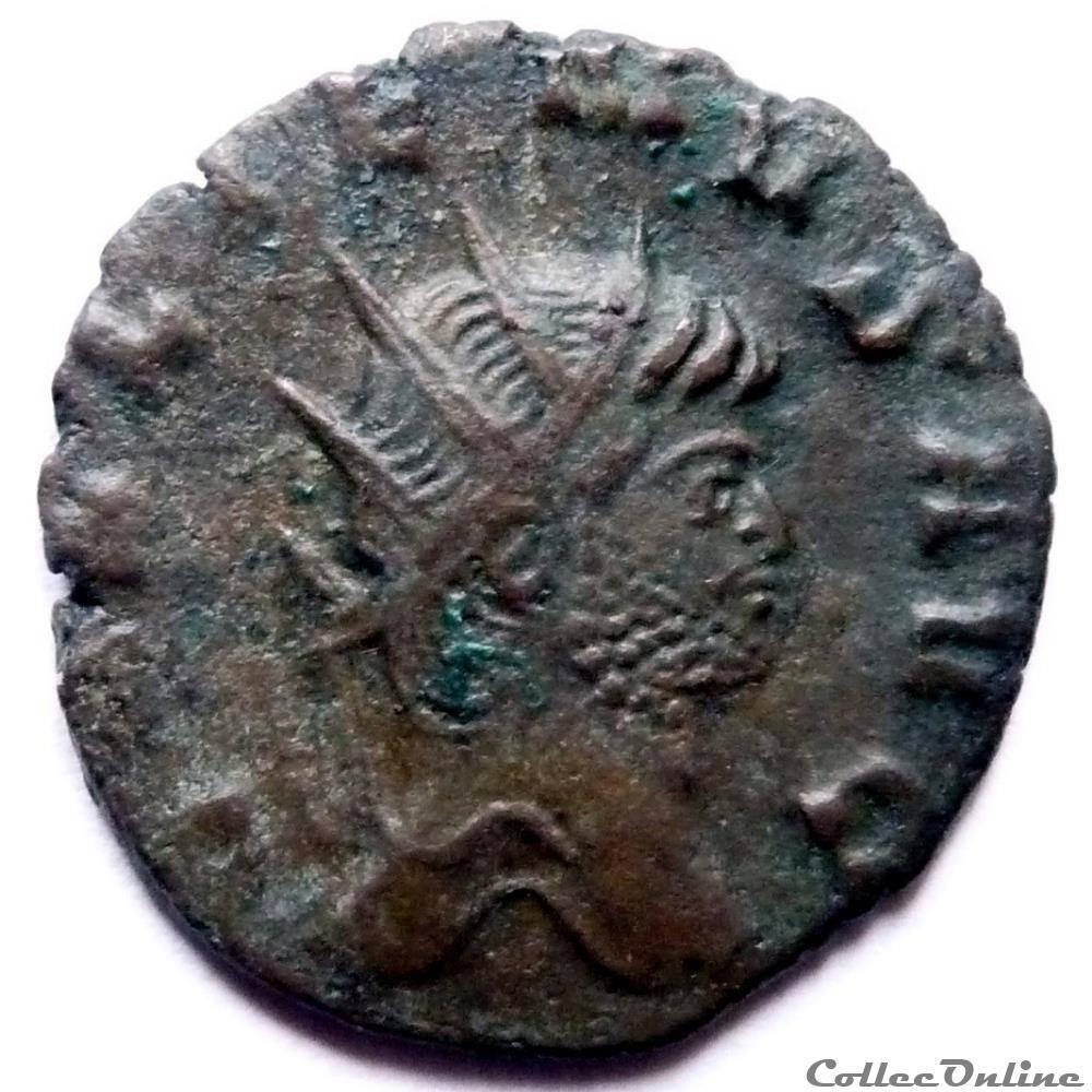 monnaie antique av jc ap romaine gallien 264 265 rome iovi propvgnat