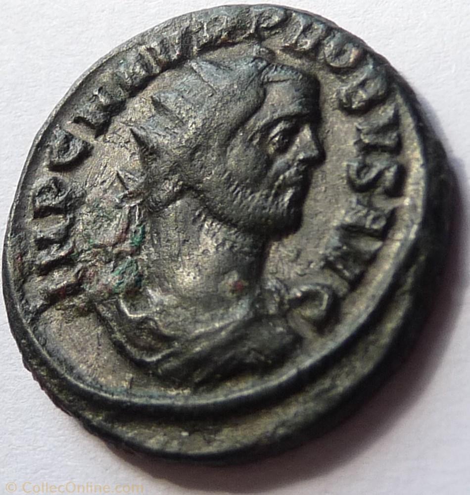 monnaie antique av jc ap romaine probus 276 ticinum restitvtor saec