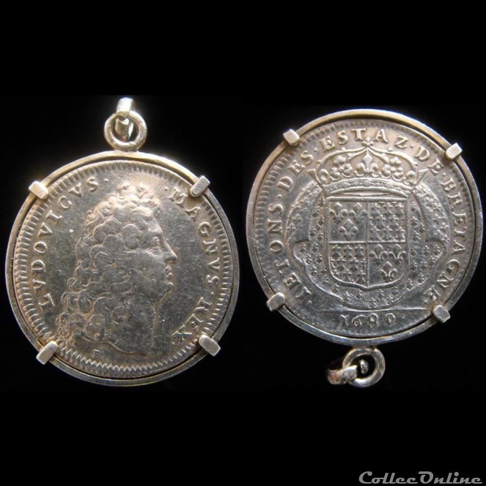 monnaie jeton mereaux france 1689 etats de rennes
