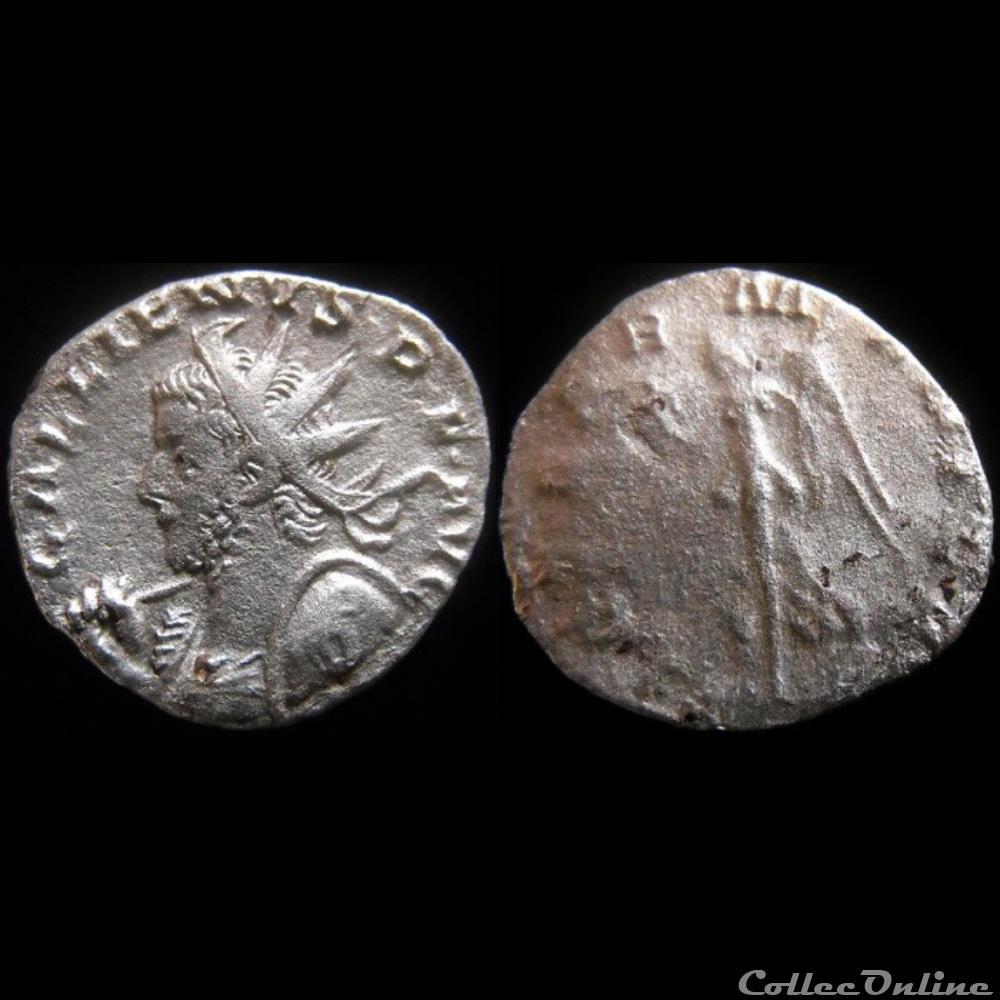 monnaie antique romaine gallien vict germanica d