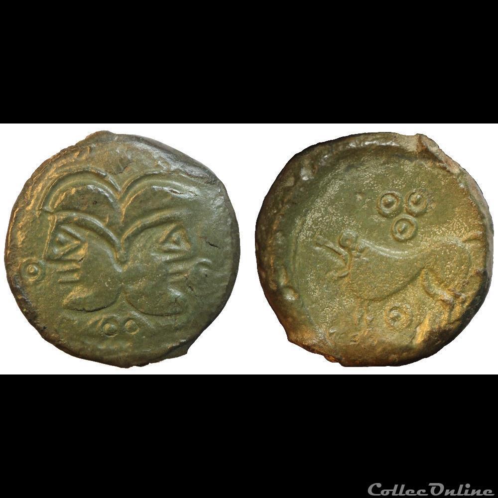 monnaie antique av jc ap gauloise suessions tetes janiformes