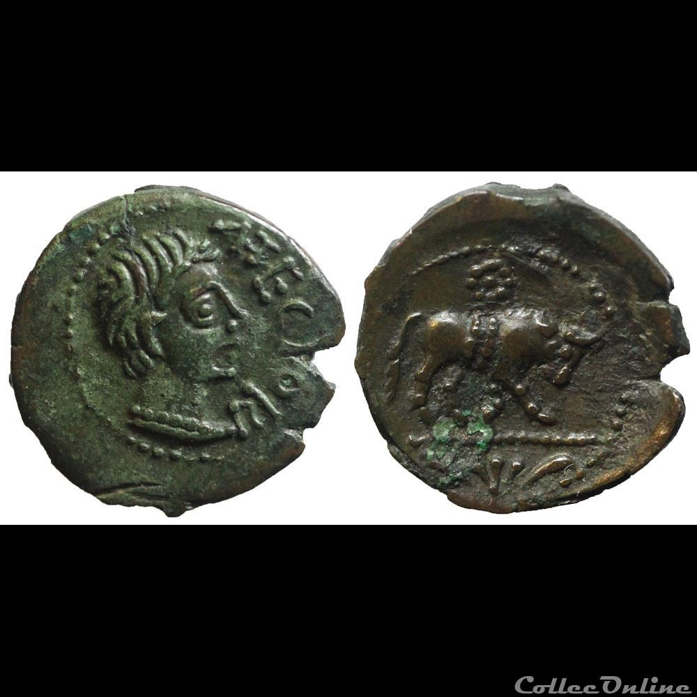 monnaie antique av jc ap gauloise bronze atectori centre ouest