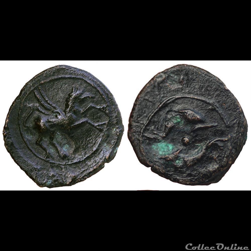 monnaie antique gauloise petit bronze au griffon
