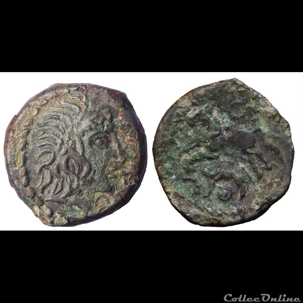 monnaie antique av jc ap gauloise aulerques eburovices au cheval et au sanglier