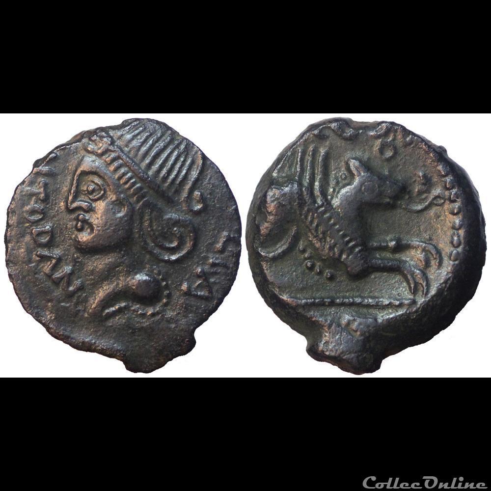 monnaie antique av jc ap gauloise meldes bronze roveca arcantodan