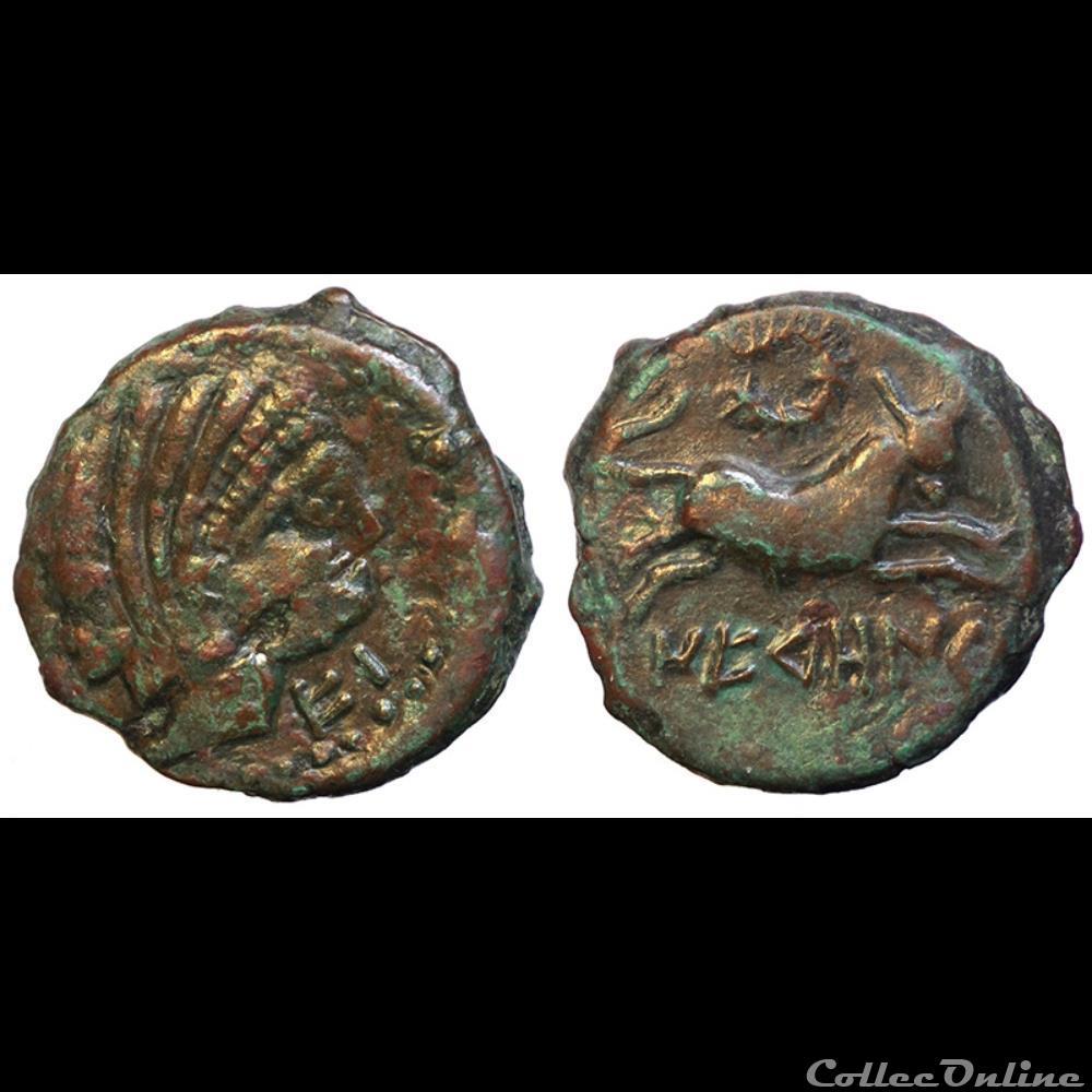monnaie antique gauloise neronken au taureau n 2
