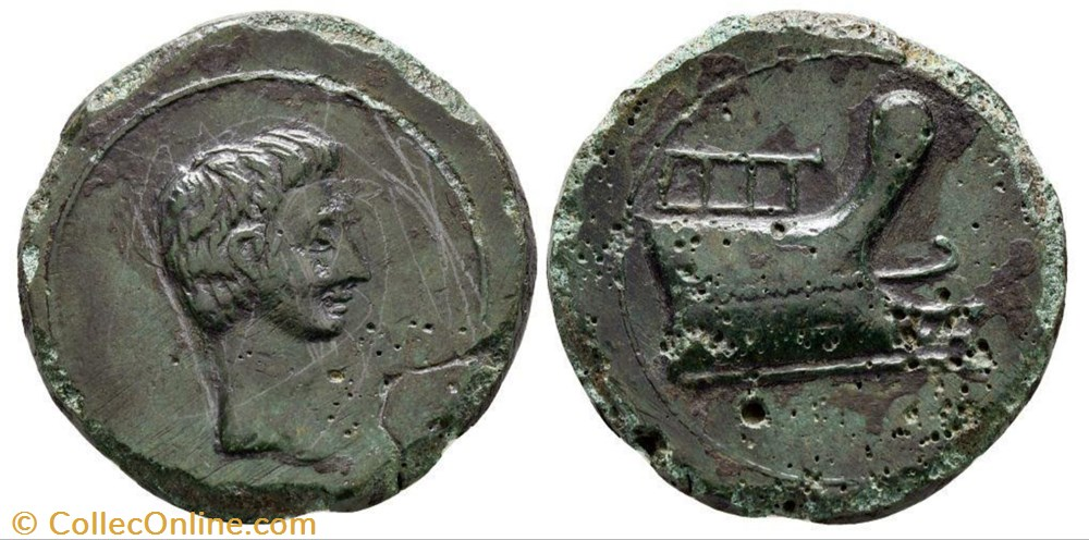 monnaie antique jc ap romaine provinciale bronze octave
