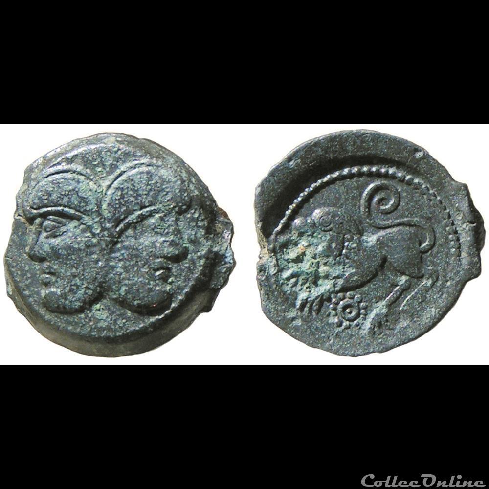 monnaie antique av jc ap gauloise suessions janus gaulois