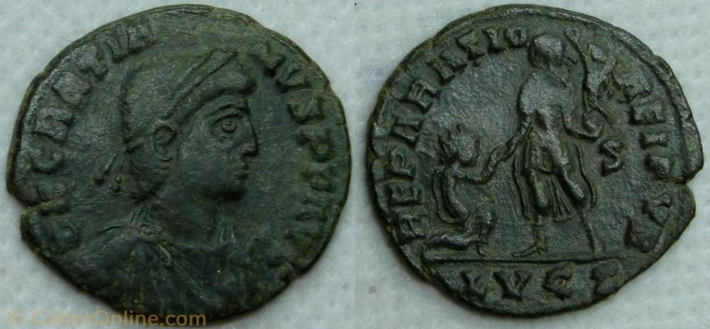 monnaie antique av jc ap romaine ric 28a4 gratien ae2 reparatio reipvb