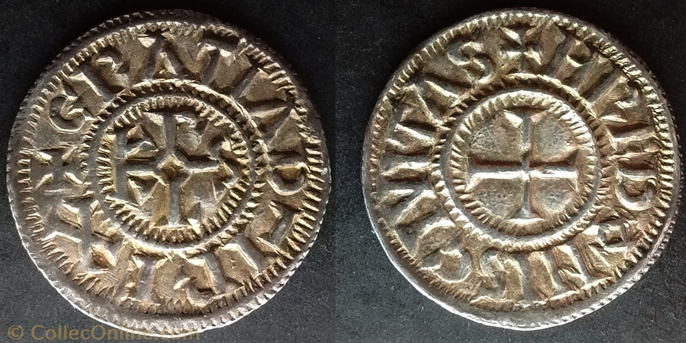 monnaie france carolingienne charles le chauve denier rennes