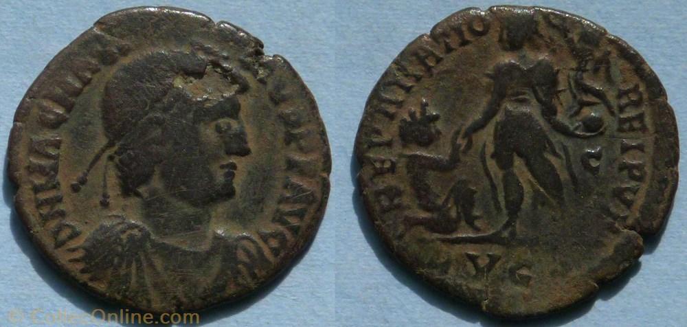 monnaie antique av jc ap romaine ric 32 7 magnus maximus ae2 reparatio reipvb