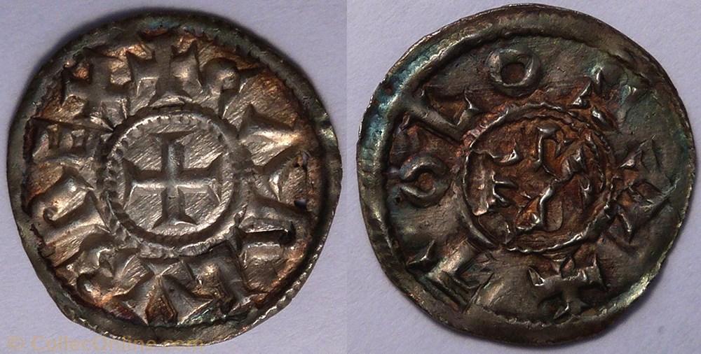 monnaie france carolingienne charles le chauve denier toulouse