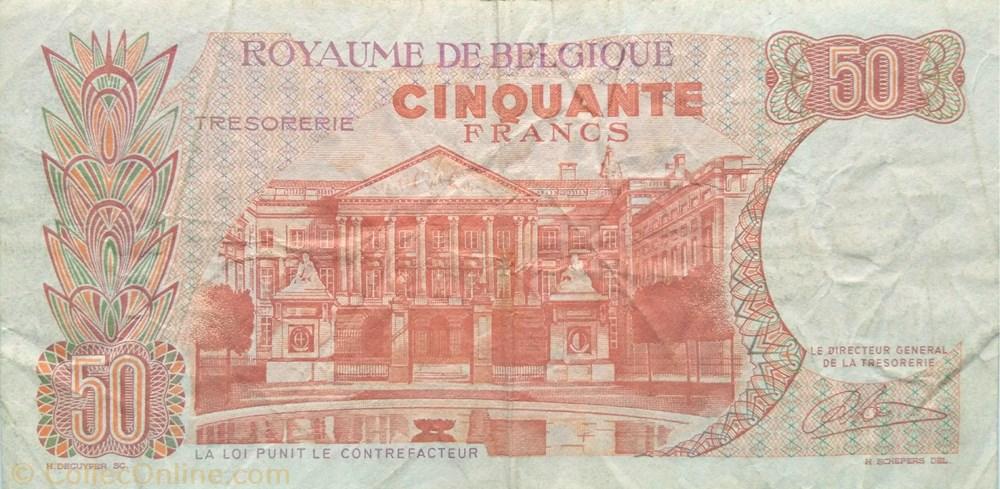 europe belgique billet de 50 francs belge