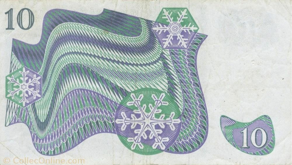 europe suede billet de 10 couronnes suedois