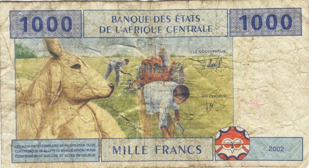 afrique republique du billet de 1000 francs congolais