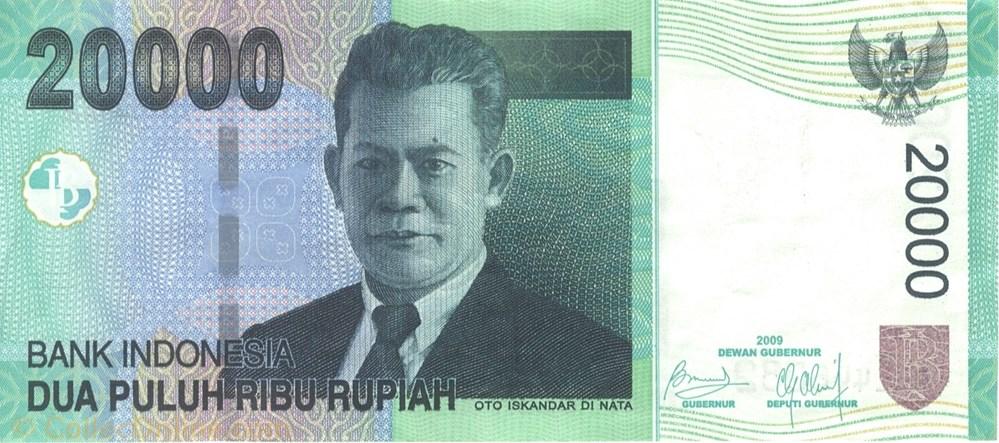 asie billet de 20000 roupies indonesien