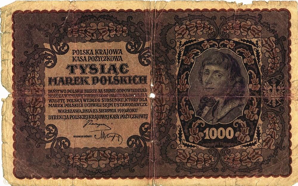 europe pologne billet de 1000 marek polonais